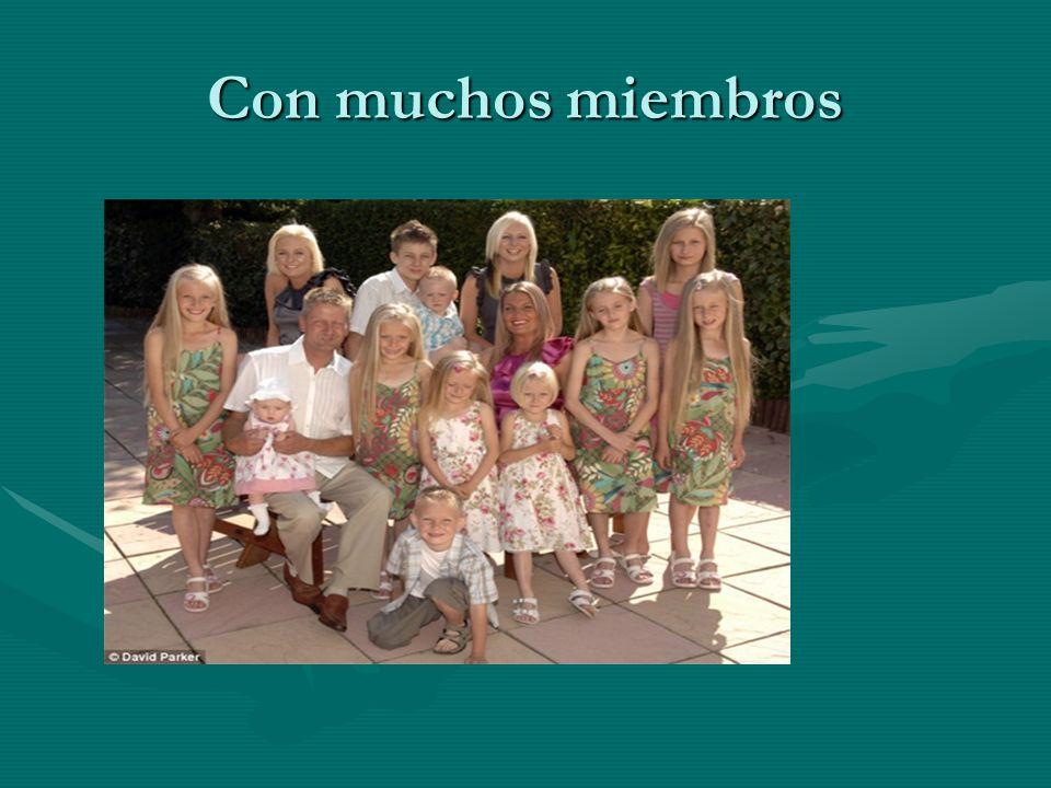 Familias con pocos miembros