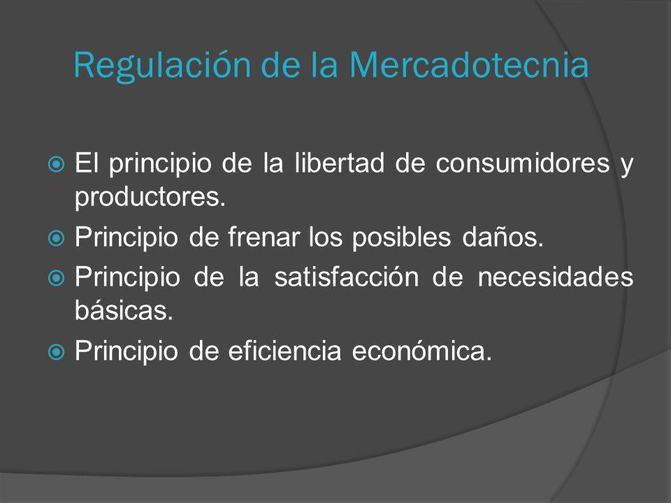Regulación de la Mercadotecnia El principio de la libertad de consumidores y productores.