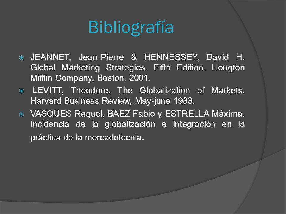 Bibliografía JEANNET, Jean-Pierre & HENNESSEY, David H.