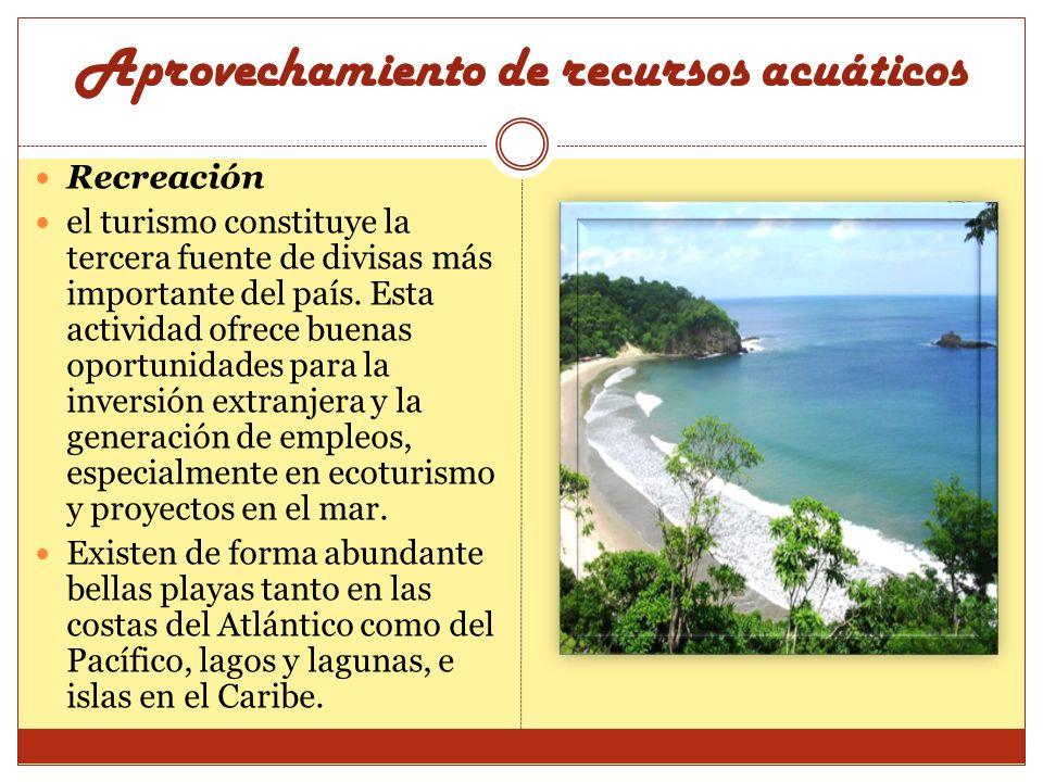 Recreación el turismo constituye la tercera fuente de divisas más importante del país. Esta actividad ofrece buenas oportunidades para la inversión ex
