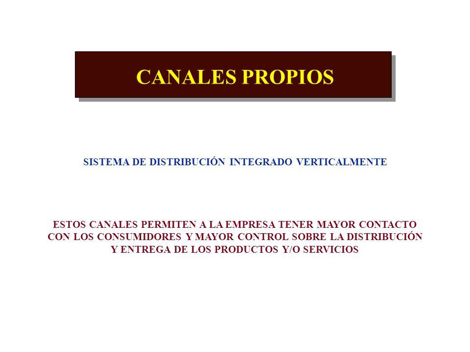 CANALES CONVENCIONALES INTERMEDIARIOS INDEPENDIENTES QUE DESARROLLAN CIERTAS TAREAS PARA LA EMPRESA RAZONES PARA USAR INTERMEDIARIOS : NO DISPONE DE R