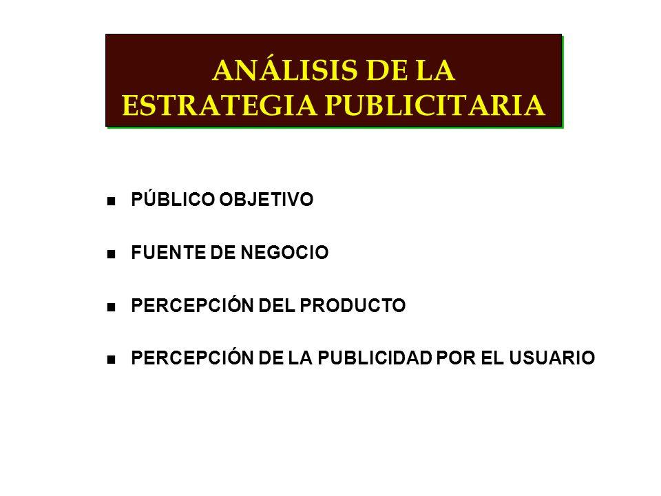 TIPOS DE PUBLICIDAD DENOTATIVA CARACTERÍSTICA BENEFICIOS Y VENTAJAS CONNOTATIVA IMAGEN