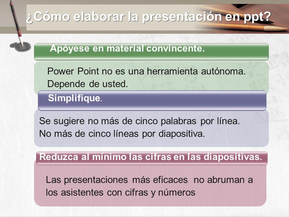 No lea la presentación de PowerPoint.Utilice las observaciones oportunamente..