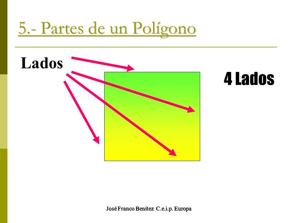 José Franco Benítez C.e.i.p. Europa 5.- Partes de un Polígono Lados 4 Lados