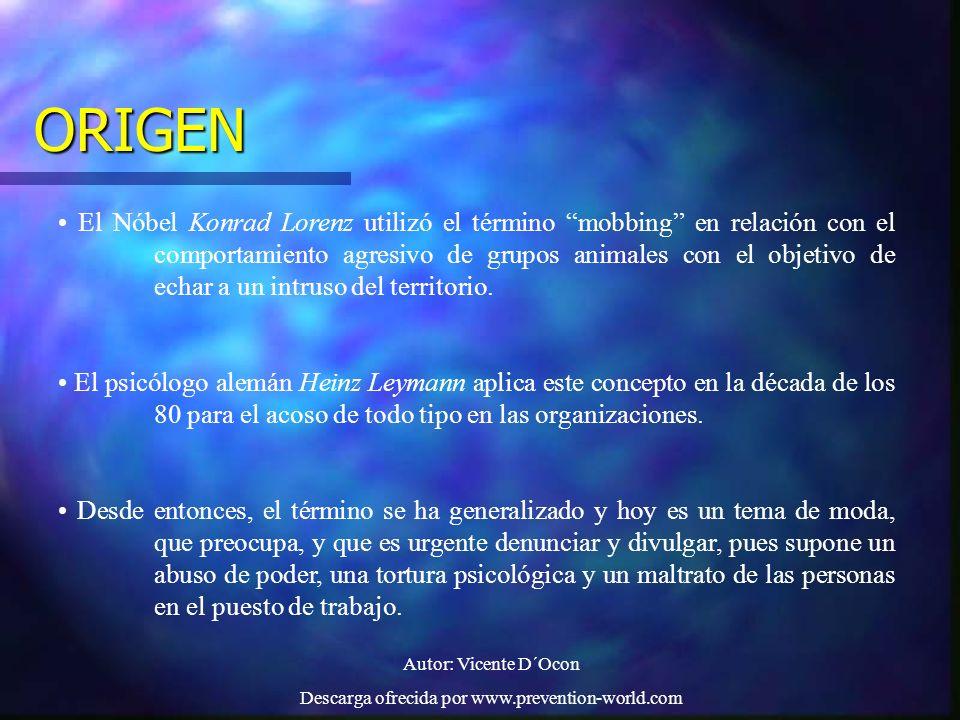 Autor: Vicente D´Ocon Descarga ofrecida por www.prevention-world.com PERFIL DEL ACOSADOR Según el profesor IÑAKI PIÑUEL, de la Universidad de Alcalá de Henares.