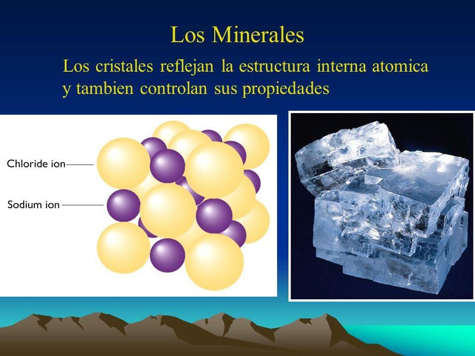 Los Minerales Los cristales reflejan la estructura interna atomica y tambien controlan sus propiedades