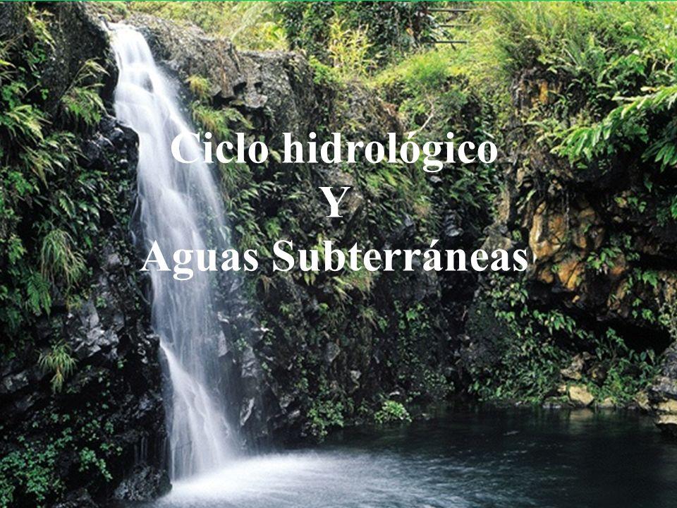 Ciclo hidrológico afectado por el hombre: contaminación atmosférica, contaminación y disminución de los caudales circulantes por los ríos, descenso de los niveles piezométricos y avance del agua del mar en los acuíferos.