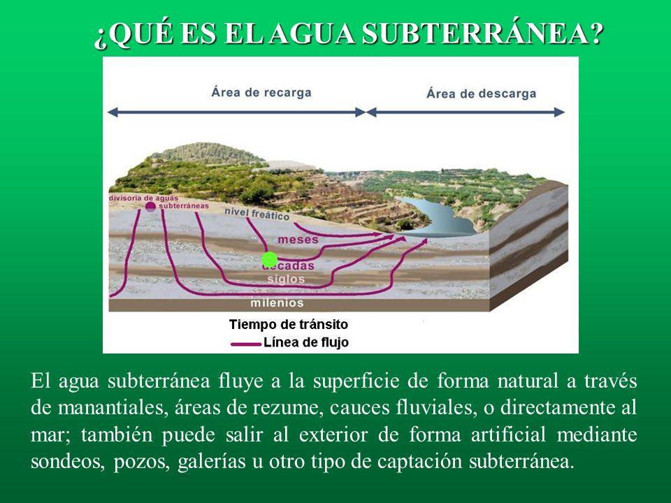 Nivel Freático: conforma el límite superior de la zona saturada en un acuífero libre. Es el lugar geométrico de los puntos de un acuífero libre que se