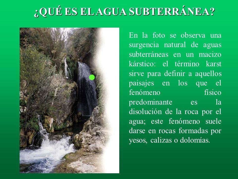 Tiempo de Residencia: Es el tiempo medio que permanece el agua subterránea en un acuífero. Equivale al cociente entre el volumen de agua almacenada y