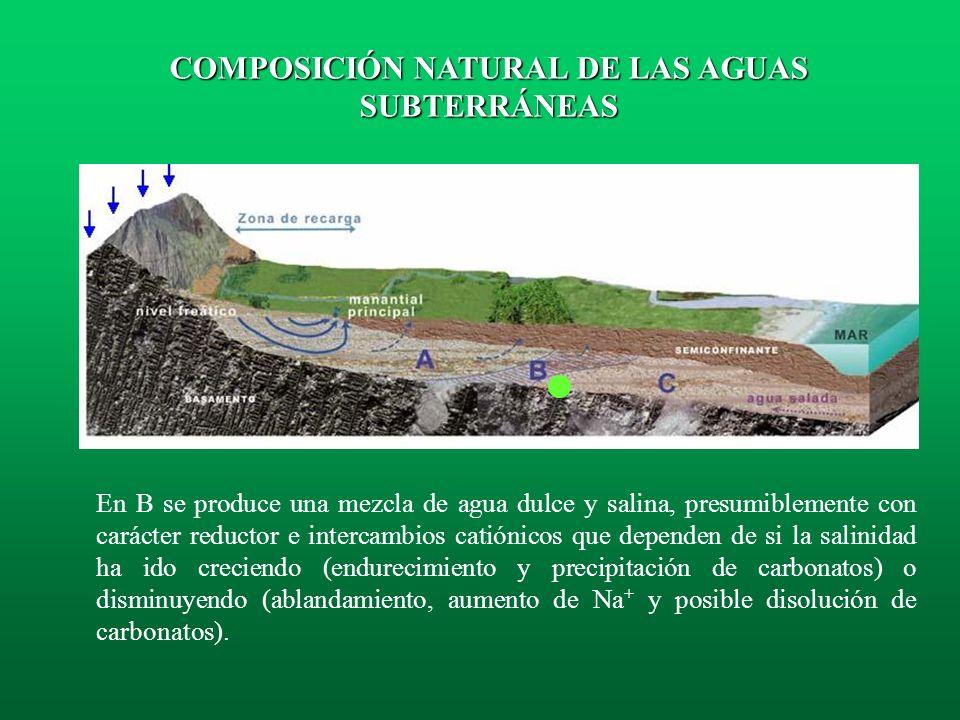 En A se puede haber consumido el O 2 disponible y la presencia de materia orgánica puede llevar a la reducción de sulfatos con producción de sulfuros