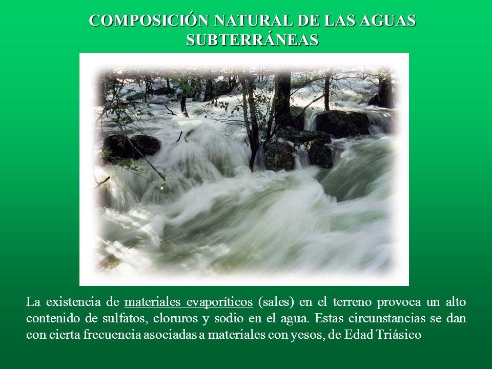 La composición de las aguas subterráneas de las zonas volcánicas es muy heterogénea. En las zonas costeras las aguas se encuentran muy mineralizadas.