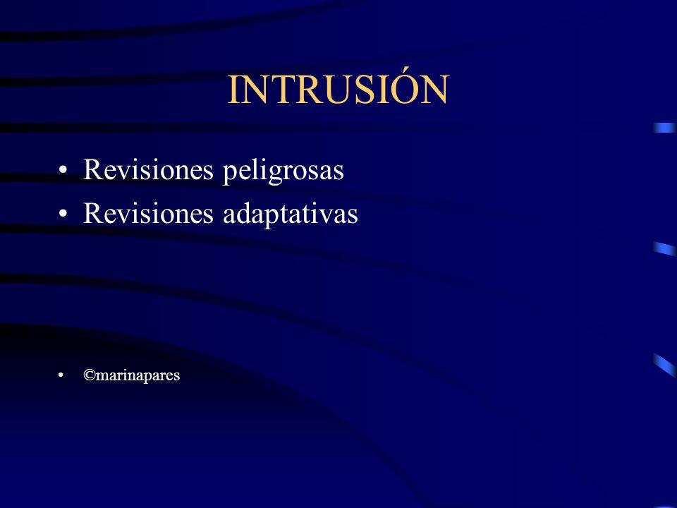 INTRUSIÓN Revisiones peligrosas Revisiones adaptativas ©marinapares