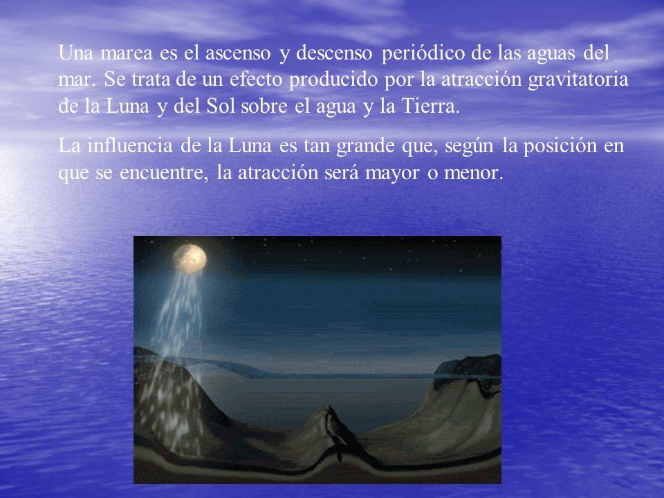 Una marea es el ascenso y descenso periódico de las aguas del mar.