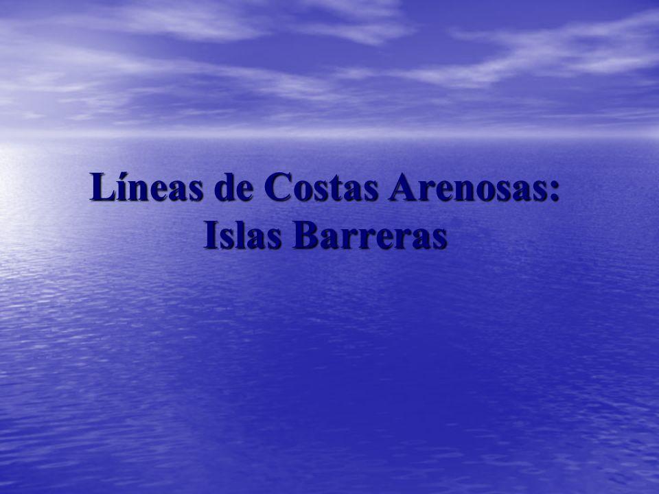 Líneas de Costas Arenosas: Islas Barreras