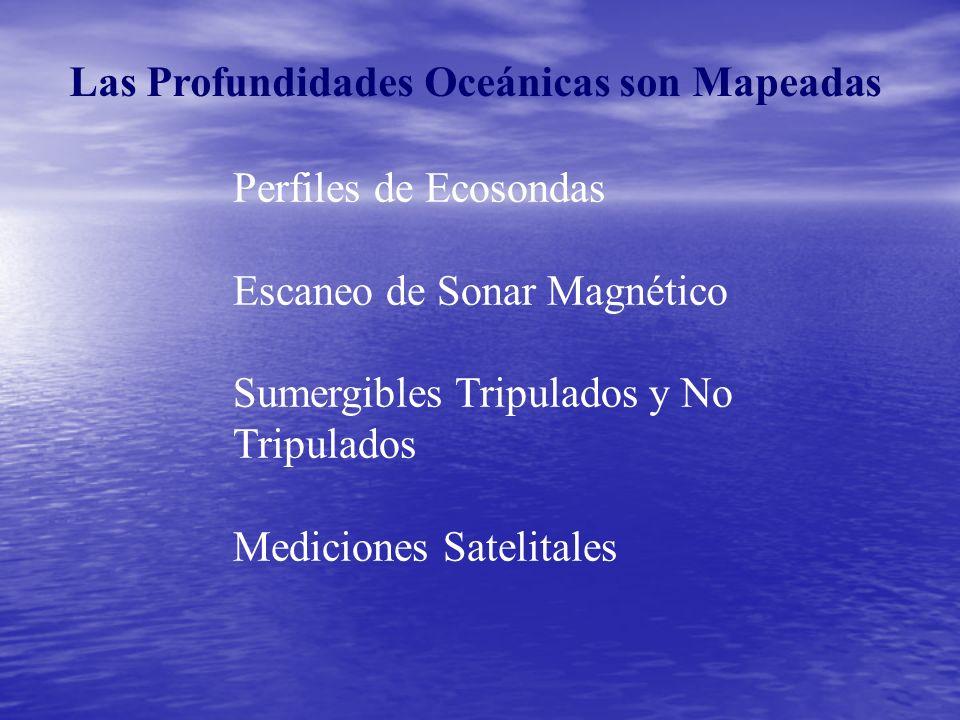 Las Profundidades Oceánicas son Mapeadas Perfiles de Ecosondas Escaneo de Sonar Magnético Sumergibles Tripulados y No Tripulados Mediciones Satelitales