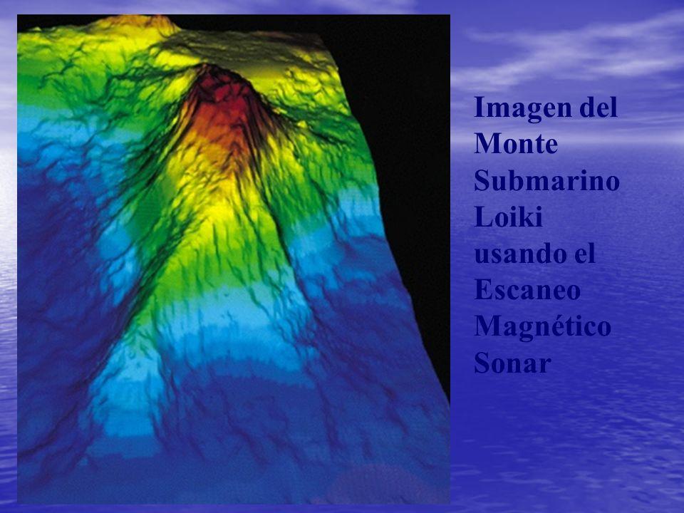 Imagen del Monte Submarino Loiki usando el Escaneo Magnético Sonar