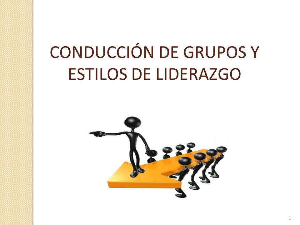 1 CONDUCCIÓN DE GRUPOS Y ESTILOS DE LIDERAZGO