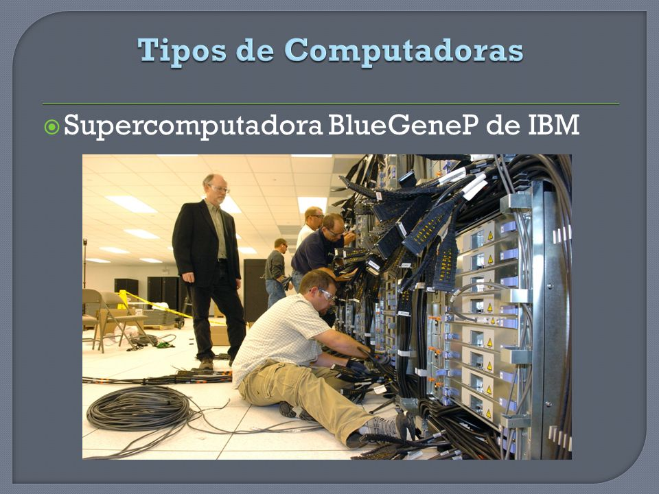 Supercomputadora BlueGeneP de IBM