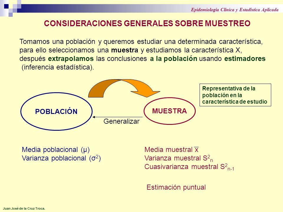 Tomamos una población y queremos estudiar una determinada característica, para ello seleccionamos una muestra y estudiamos la característica X, despué