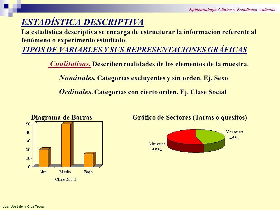 TIPOS DE VARIABLES Y SUS REPRESENTACIONES GRÁFICAS (II) Cuantitativas (numéricas).