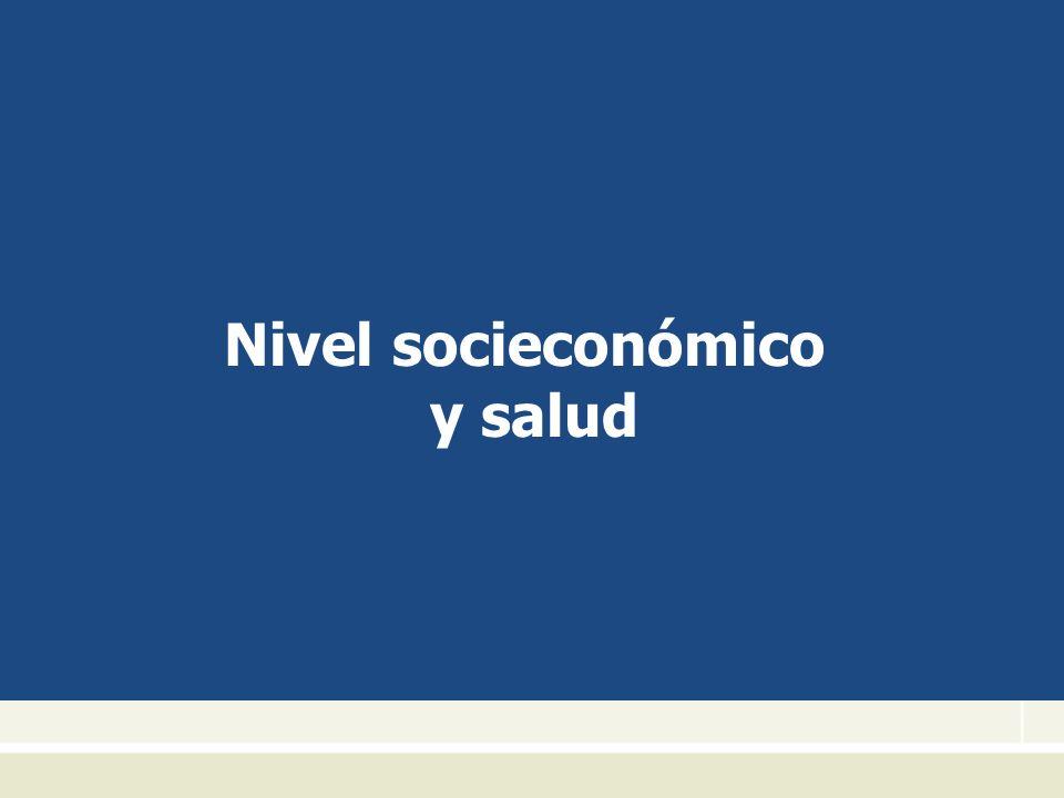 Nivel socieconómico y salud