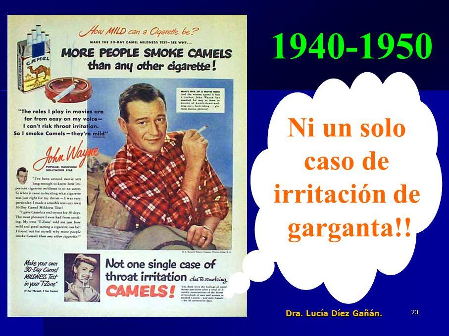 23 1940-1950 Ni un solo caso de irritación de garganta!! Dra. Lucía Díez Gañán.