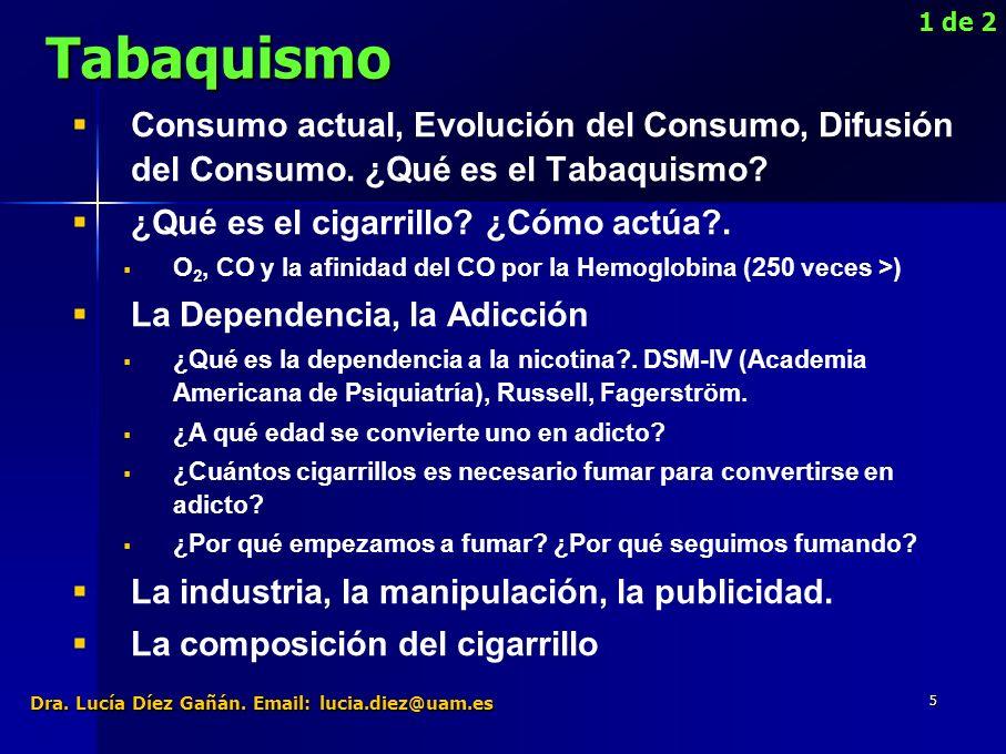 36 1) 1)El problema del tabaquismo no es de naturaleza moral.