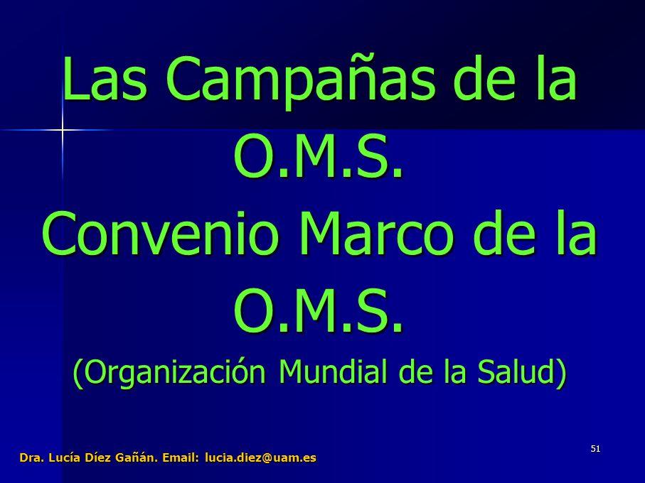 51 Las Campañas de la O.M.S. Convenio Marco de la O.M.S.
