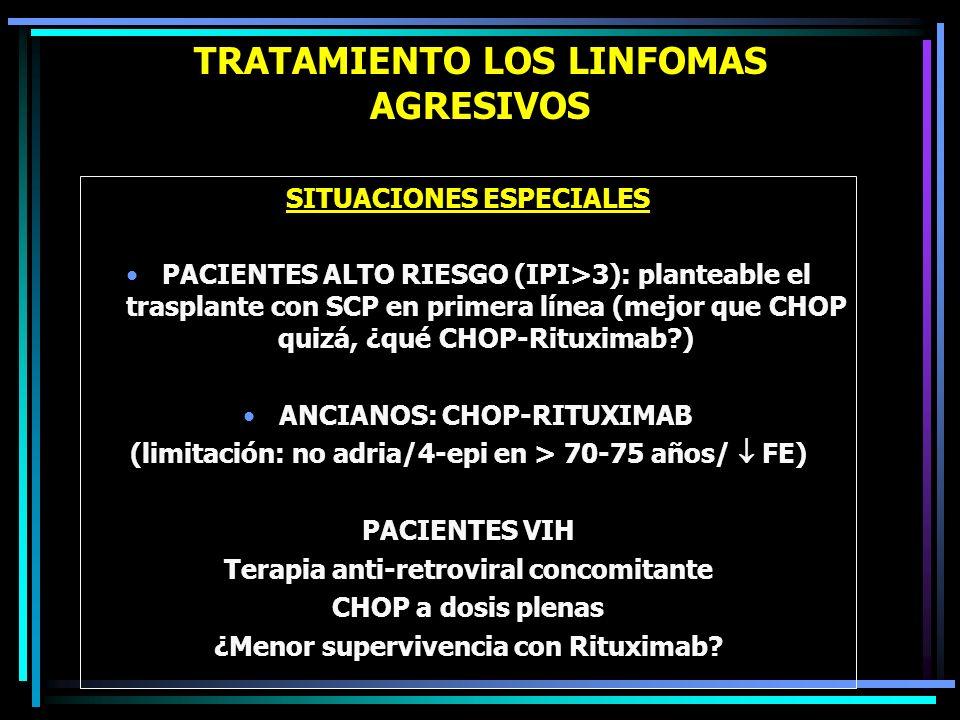 TRATAMIENTO LOS LINFOMAS AGRESIVOS AVANCES RECIENTES CHOP BISEMANAL CHOP-RITUXIMAB