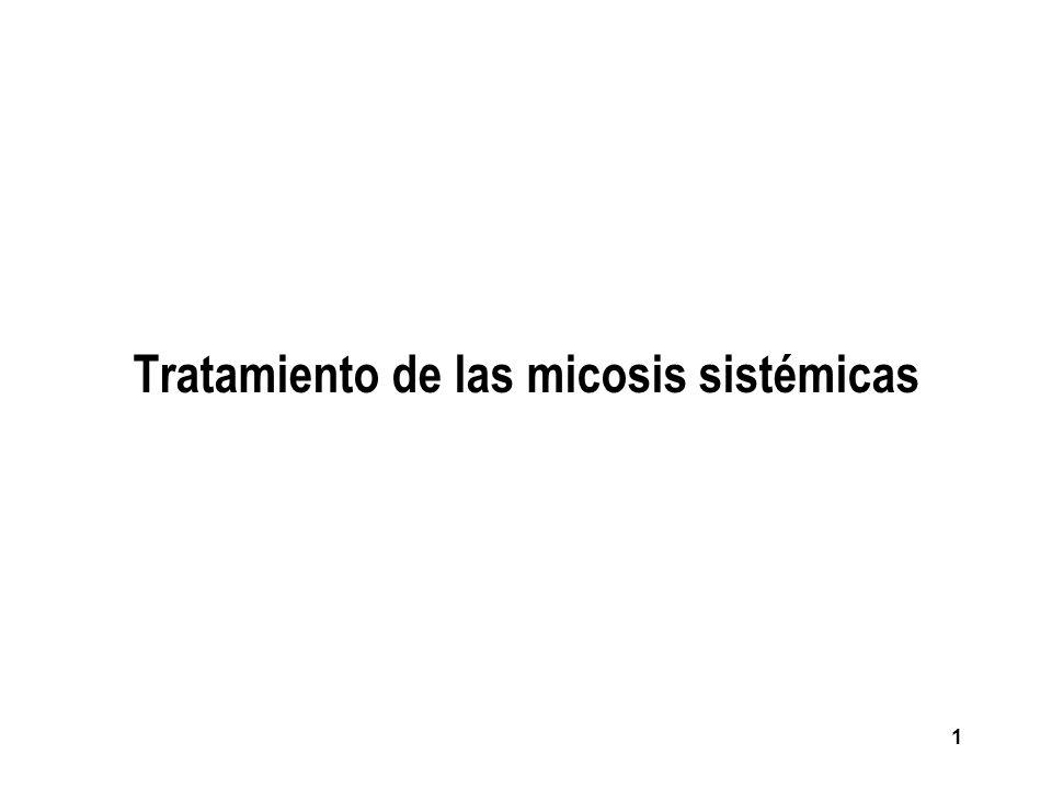 52 ASPERGILOSIS PULMONAR INVASIVA n Tratamiento de los factores predisponentes + Fármacos + Cirugía (tambíen útil para el diagnóstico).