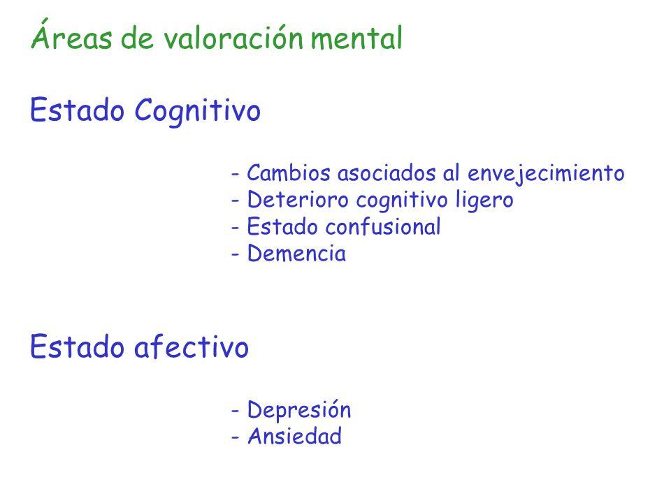 Síndromes Geriátricos Clásicos:- Deterioro cognitivo - Inmovilidad - Incontinencia - Caídas En sentido amplio: insomnio, úlceras por presión, estreñimiento, malnutrición, deprivación sensorial, síncopes, deterioro funcional, yatrogenia, polifarmacia, deshidratación, depresión, hipotermia...