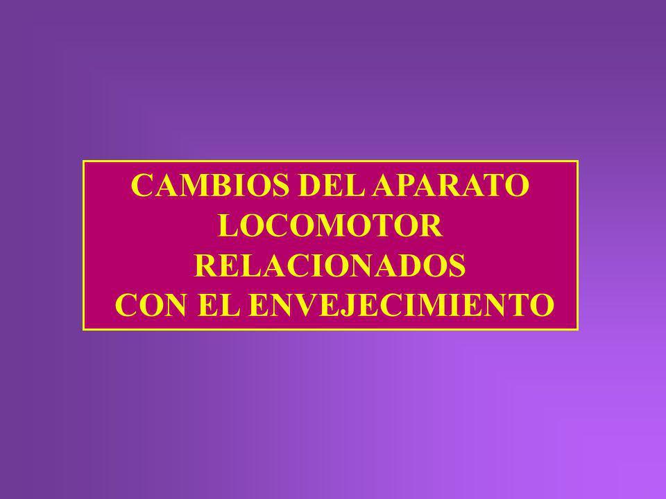CAMBIOS DEL APARATO LOCOMOTOR RELACIONADOS CON EL ENVEJECIMIENTO