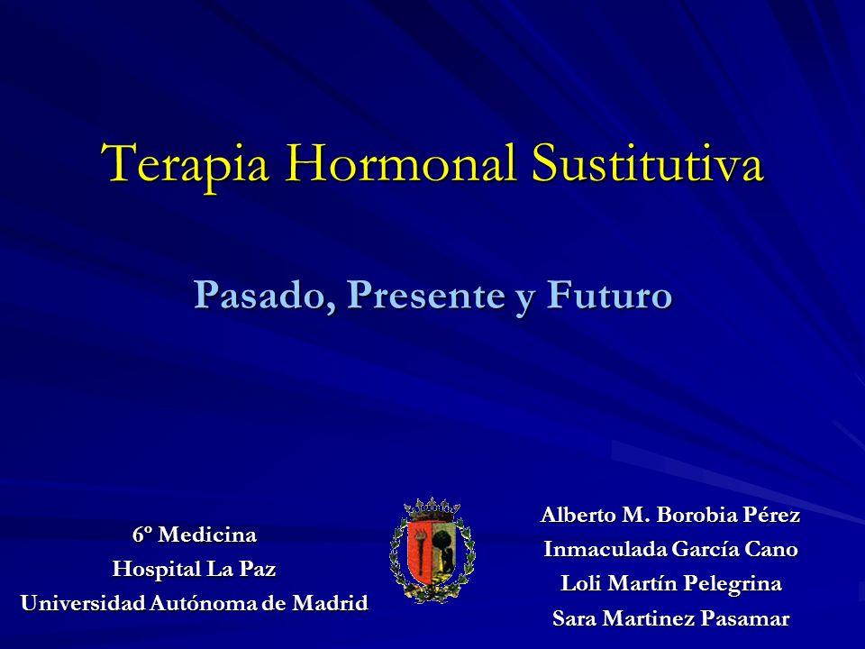 Terapia Hormonal Sustitutiva Introducción Indicaciones THS 1997: Estudios Observacionales Indicaciones THS 2004: Estudios Experimentales Evaluación global y conclusiones