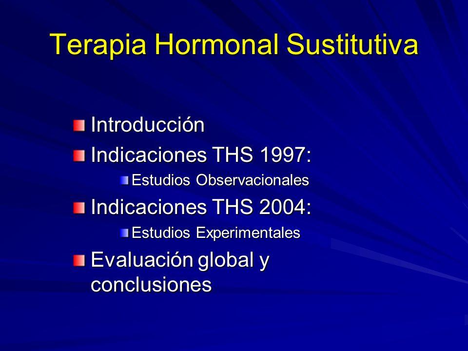 1 - INTRODUCCIÓN 1- Alivio sintomático Pautas de THS a CORTO PLAZO 2- Prevención y tratamiento de las enfermedades crónicas Pautas de THS a LARGO PLAZO THS.