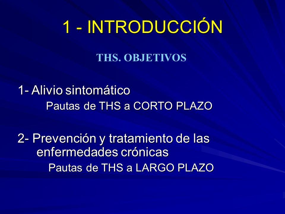 1.Alteraciones del ciclo menstrual 2. Síntomas neurovegetativos 3.