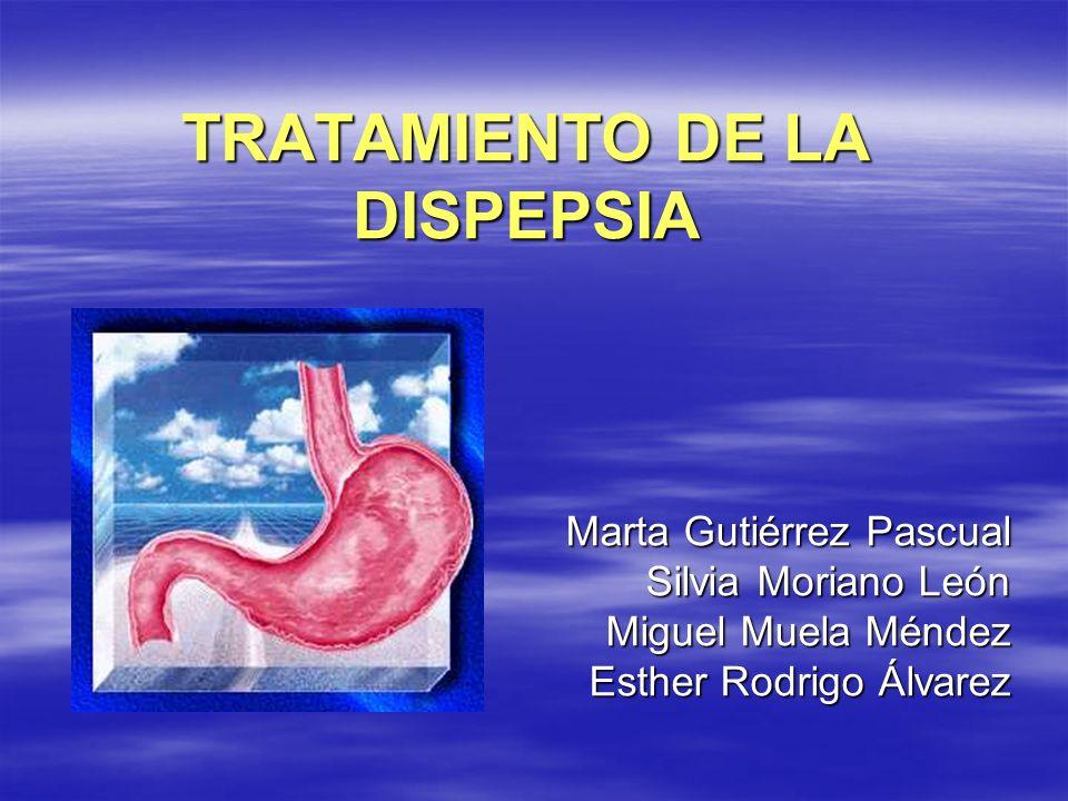 DISPEPSIADISPEPSIA Criterios de Roma II: Dolor o molestia localizada en la parte central de la mitad superior del abdomen.
