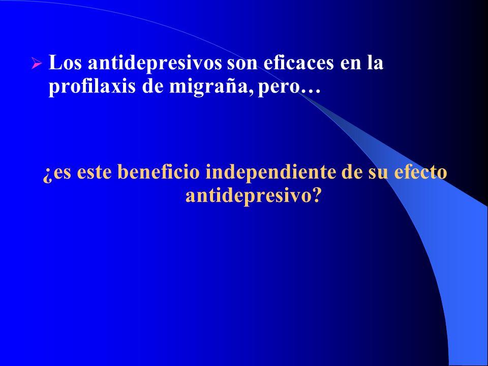 Los antidepresivos son eficaces en la profilaxis de migraña, pero… ¿es este beneficio independiente de su efecto antidepresivo?