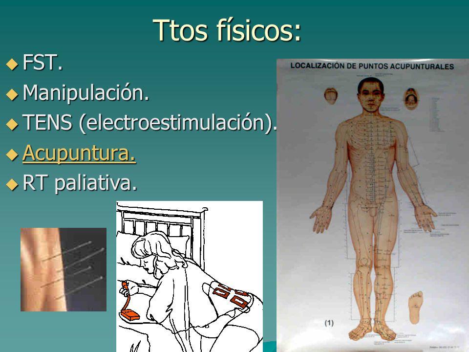 Bloqueos nerviosos: Técnicas: Técnicas: –Bloqueos dg –B. diferenciales: con los anteriores para identificar origen. –B. pronósticos: valorar posibles