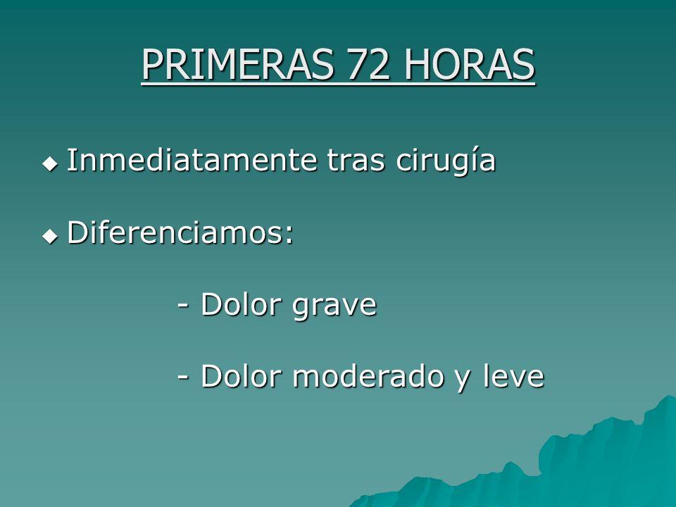 PRIMERAS 72 HORAS