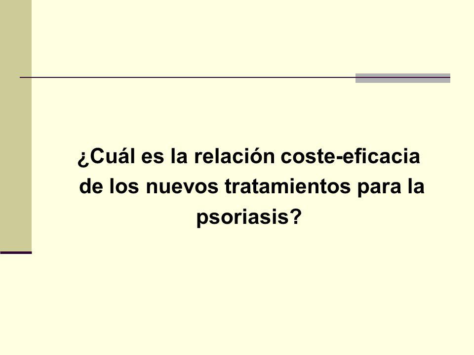 ¿Cuál es la relación coste-eficacia de los nuevos tratamientos para la psoriasis?