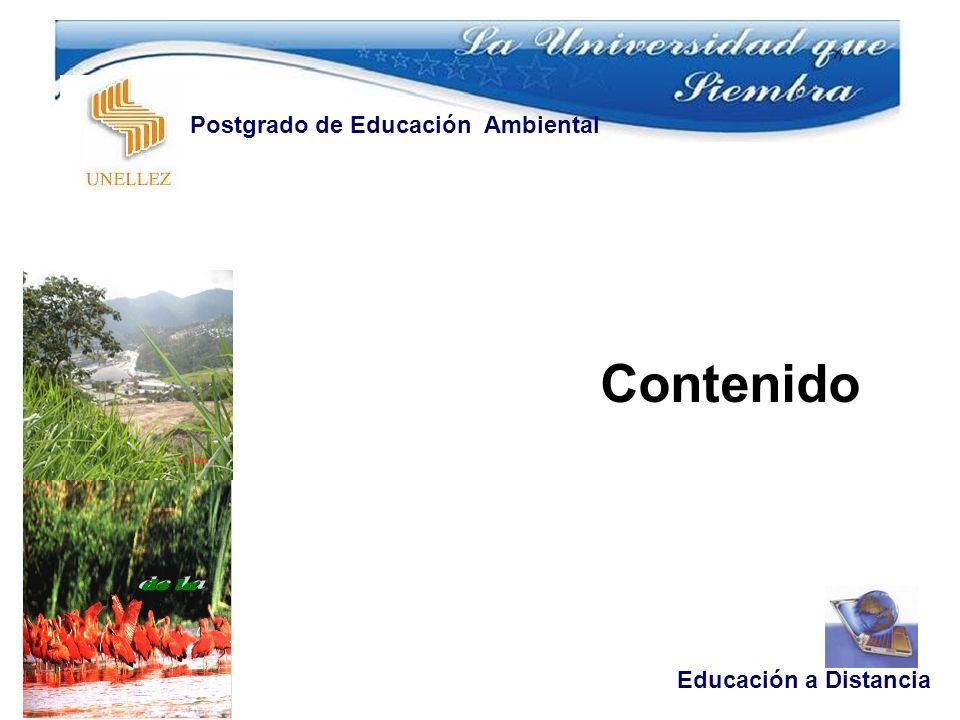 Contenido Educación a Distancia Postgrado de Educación Ambiental