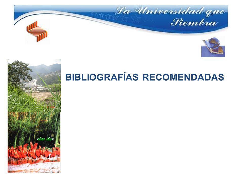 BIBLIOGRAFÍAS RECOMENDADAS