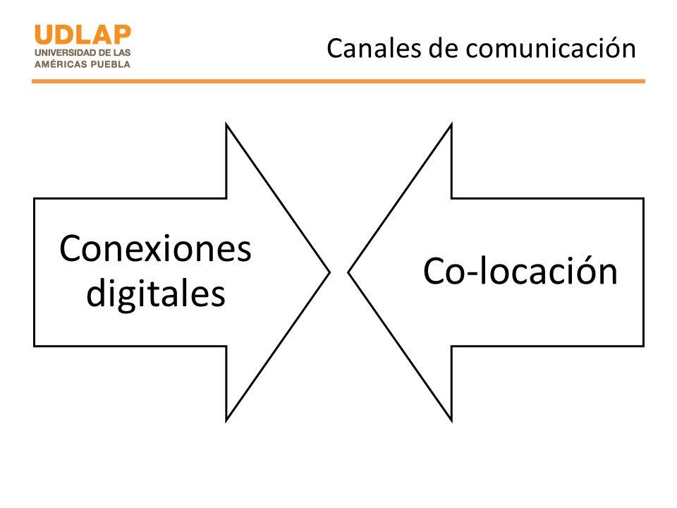 Canales de comunicación Conexiones digitales Co-locación