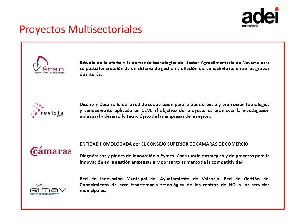 Proyectos Multisectoriales Estudio de la oferta y la demanda tecnológica del Sector Agroalimentario de Navarra para su posterior creación de un sistem