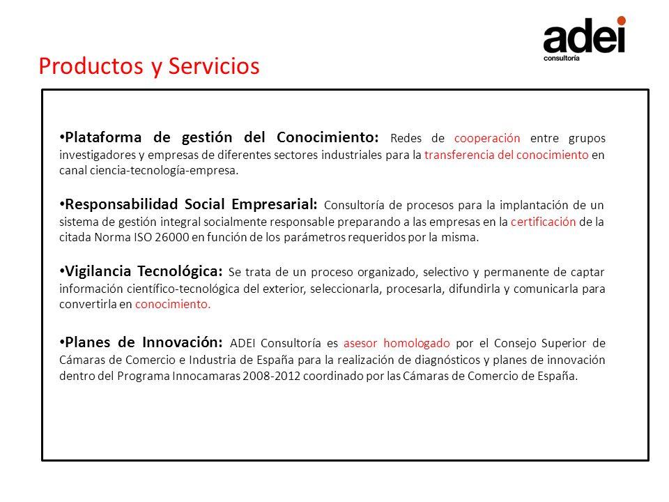 Productos y Servicios Gestión Empresarial: Servicio de consultoría estratégica y de procesos a las empresas.