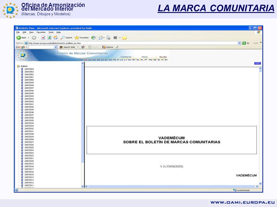 Oficina de Armonización del Mercado Interior (Marcas, Dibujos y Modelos) LA MARCA COMUNITARIA