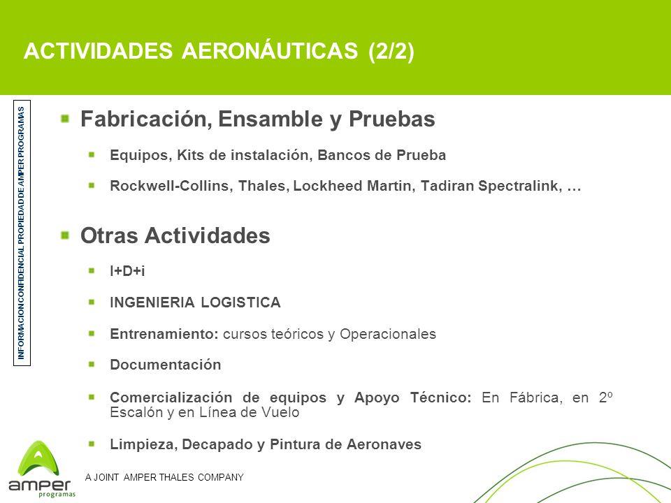 A JOINT AMPER THALES COMPANY PLAN DE EXPANSIÓN - CENTROS DE TRABAJO MADRID (Getafe) Front Desk Comercial Mto.