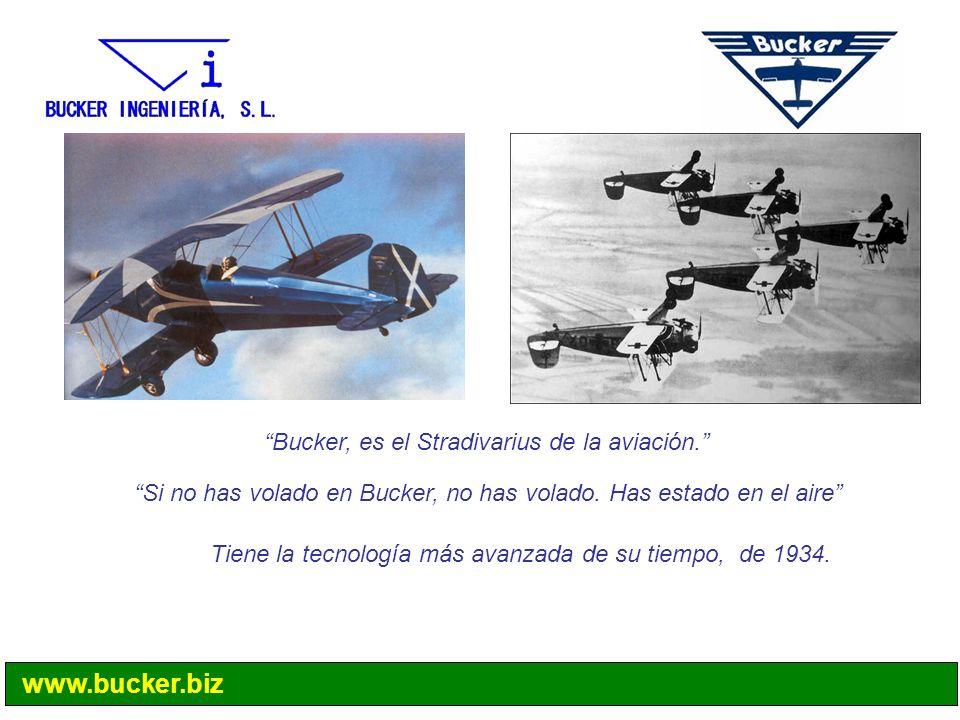 Bucker, es el Stradivarius de la aviación. Si no has volado en Bucker, no has volado. Has estado en el aire Tiene la tecnología más avanzada de su tie