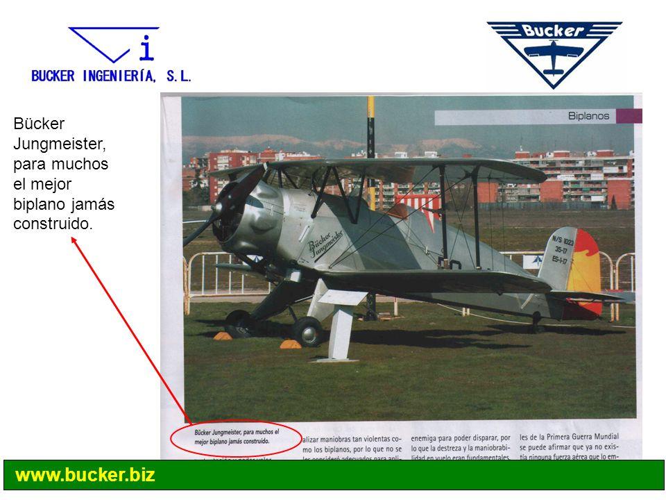 Bücker Jungmeister, para muchos el mejor biplano jamás construido. www.bucker.biz