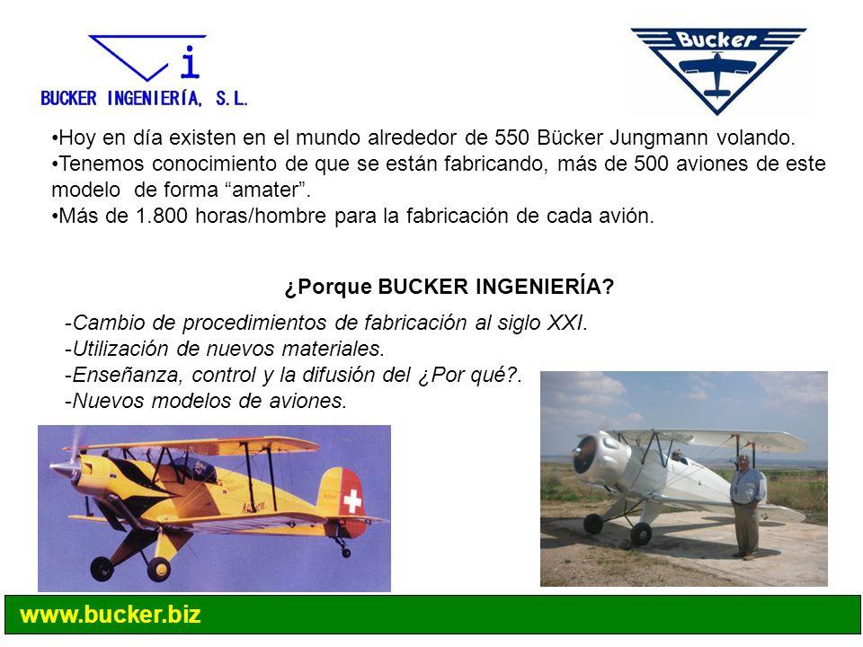 Hoy en día existen en el mundo alrededor de 550 Bücker Jungmann volando. Tenemos conocimiento de que se están fabricando, más de 500 aviones de este m